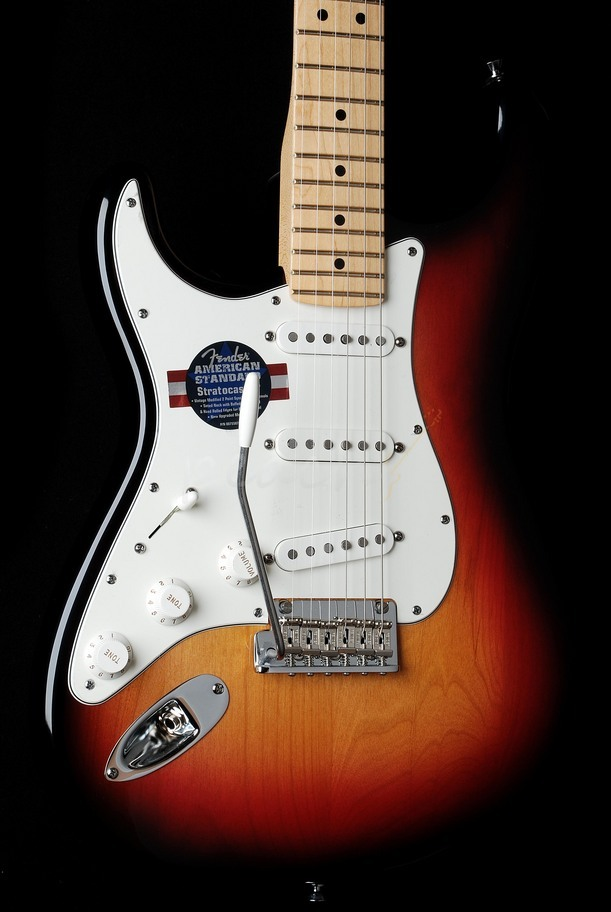 Fender American Standard Strat Left Handed Sunburst Maple