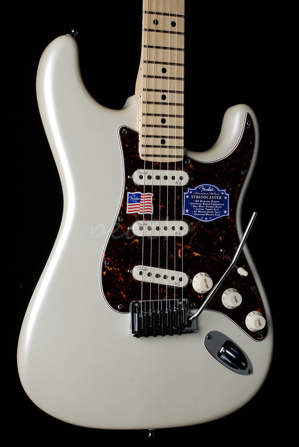 Fender American Deluxe Strat Maple Neck Olympic Pearl