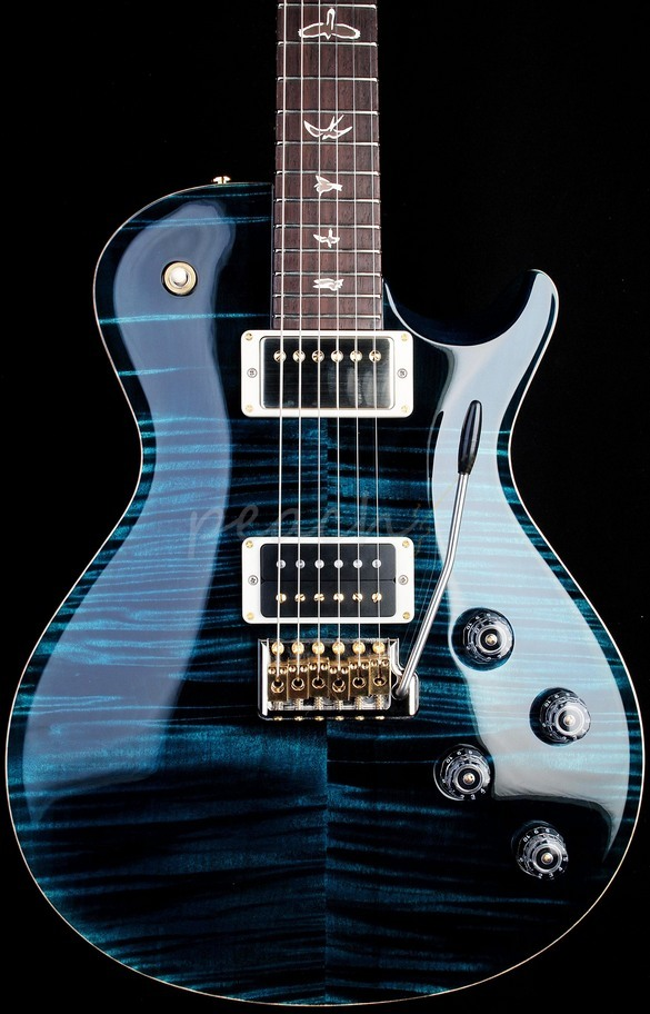 PRS Mark Tremonti Model Teal Black Gold Hardware Birds