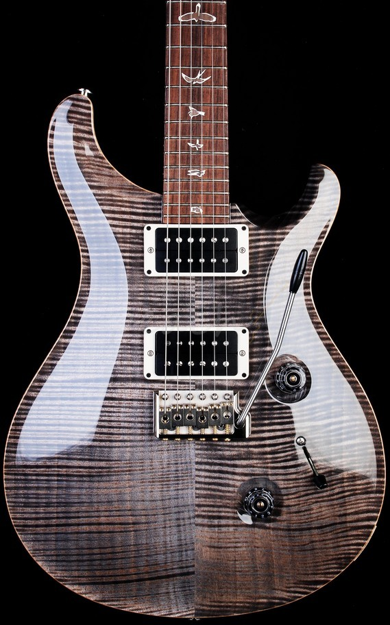 PRS Custom 24 Faded Grey Black 10 Top with Birds