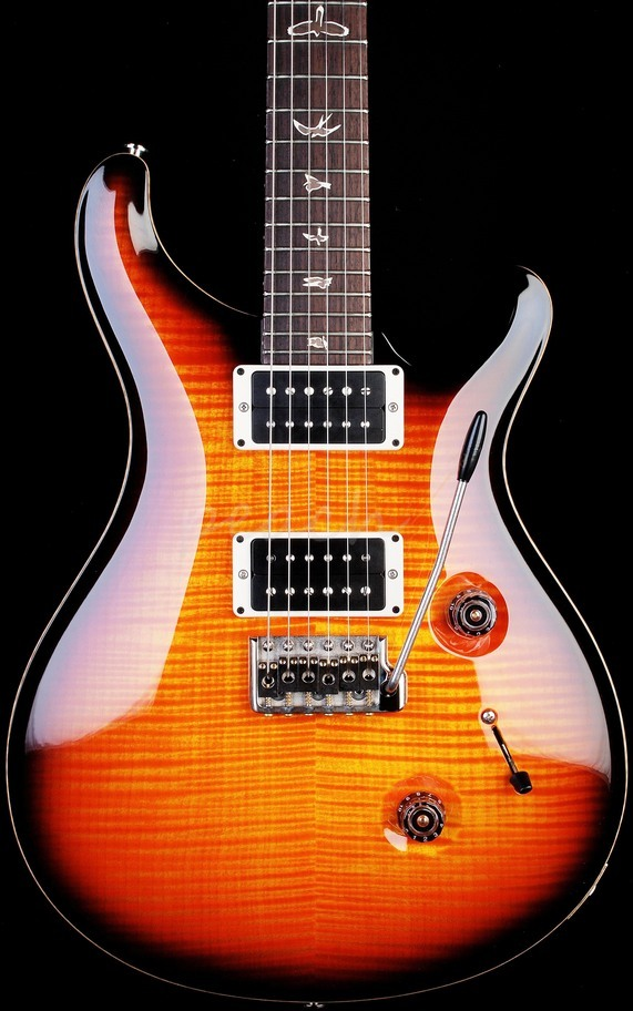 PRS Custom 24 Faded Solana Smokeburst 10 Top with Birds