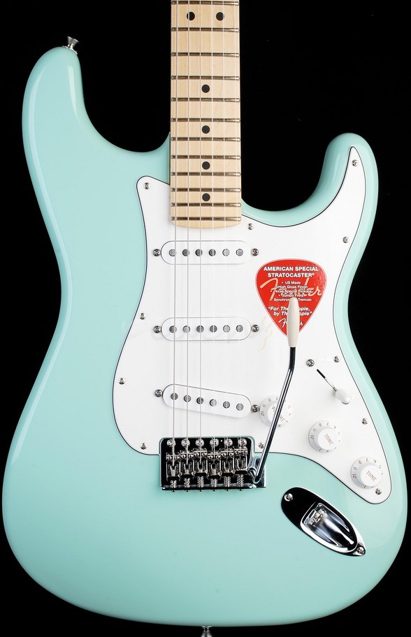 Fender American Special Strat Maple Neck Surf Green
