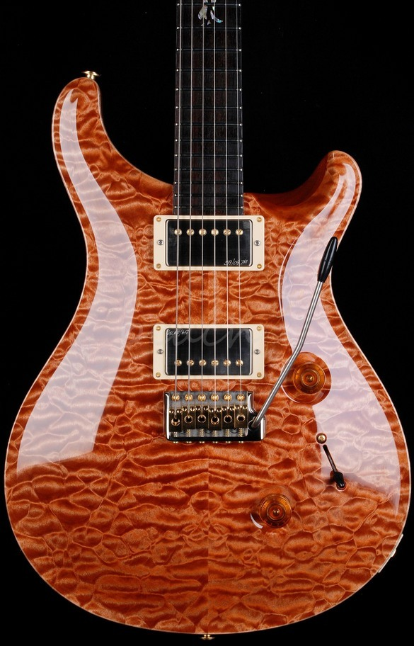 PRS Custom 24 Wood Library Terracota Quilt with Rosewood Neck