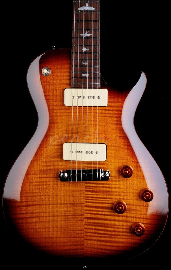 PRS SE 245 Soapbar Tobacco Sunburst Flame Top