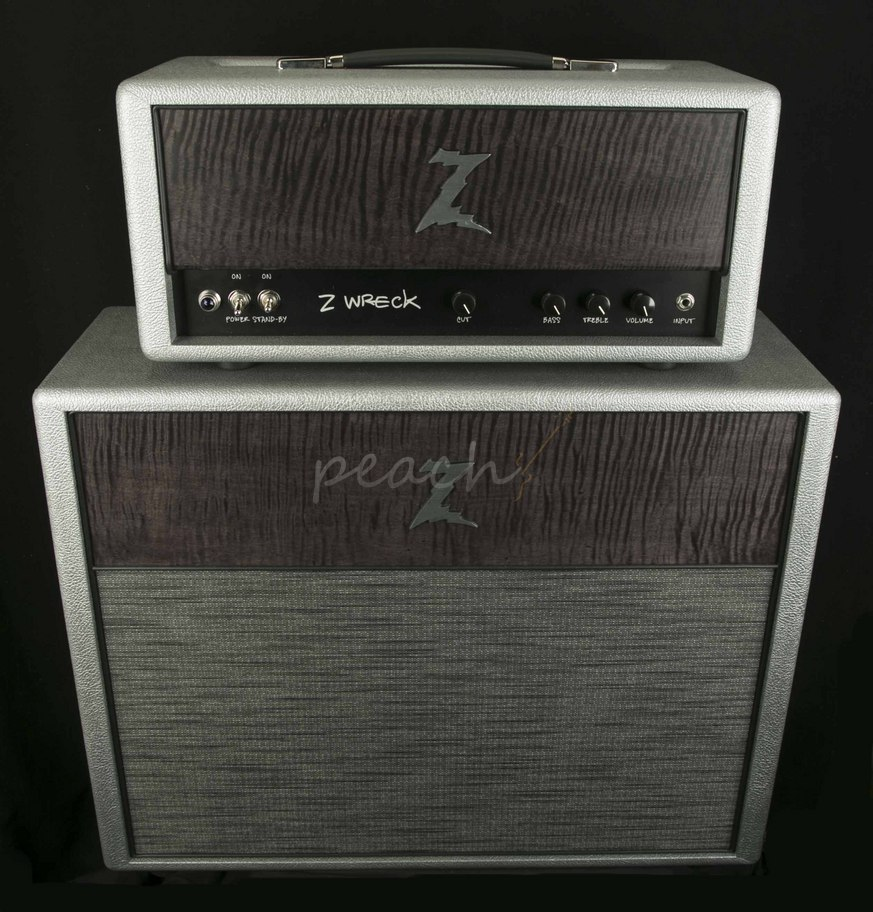 dr z 39 z wreck 39 head and cab silver set peach guitars. Black Bedroom Furniture Sets. Home Design Ideas