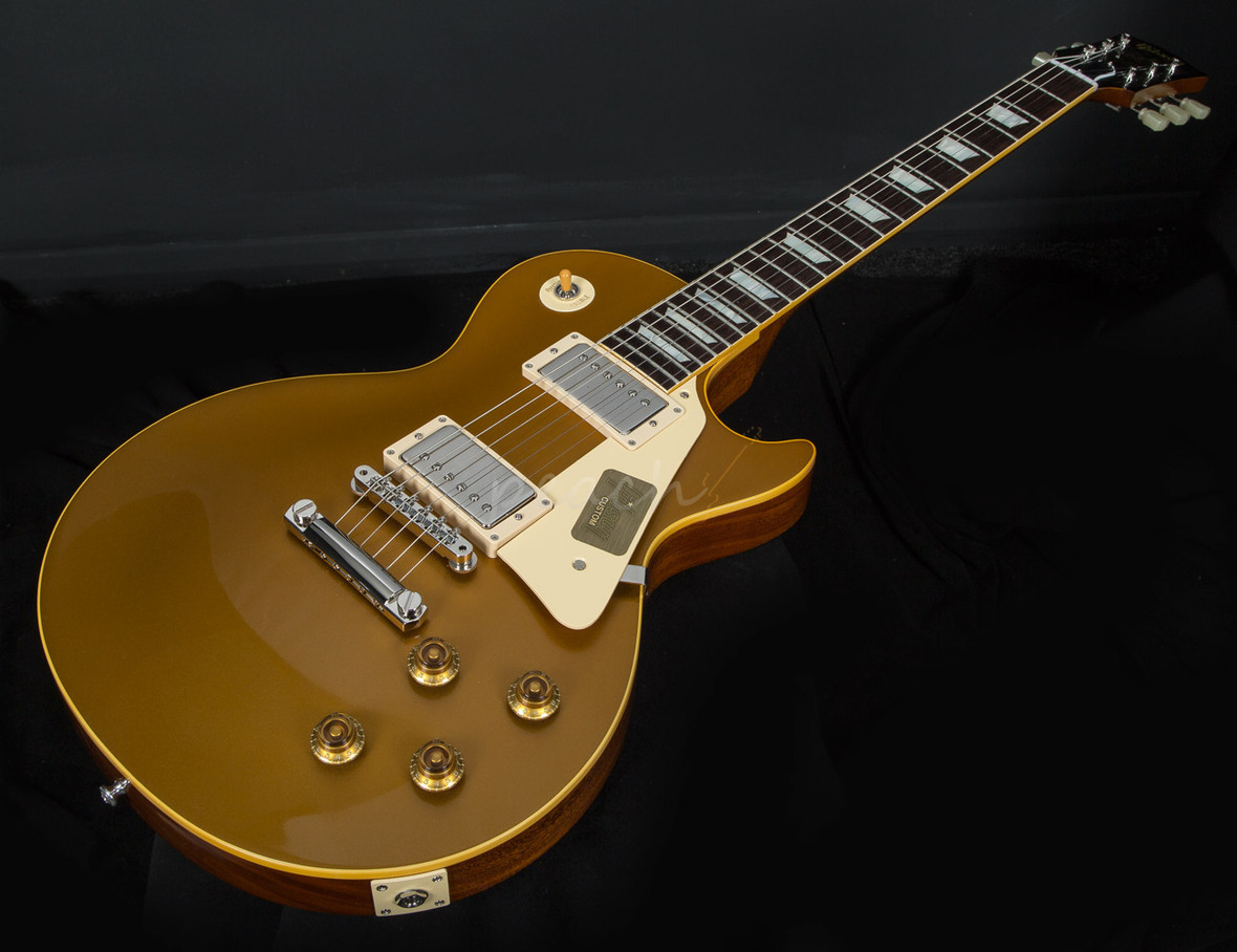 gibson custom true historic 1957 les paul goldtop peach guitars. Black Bedroom Furniture Sets. Home Design Ideas