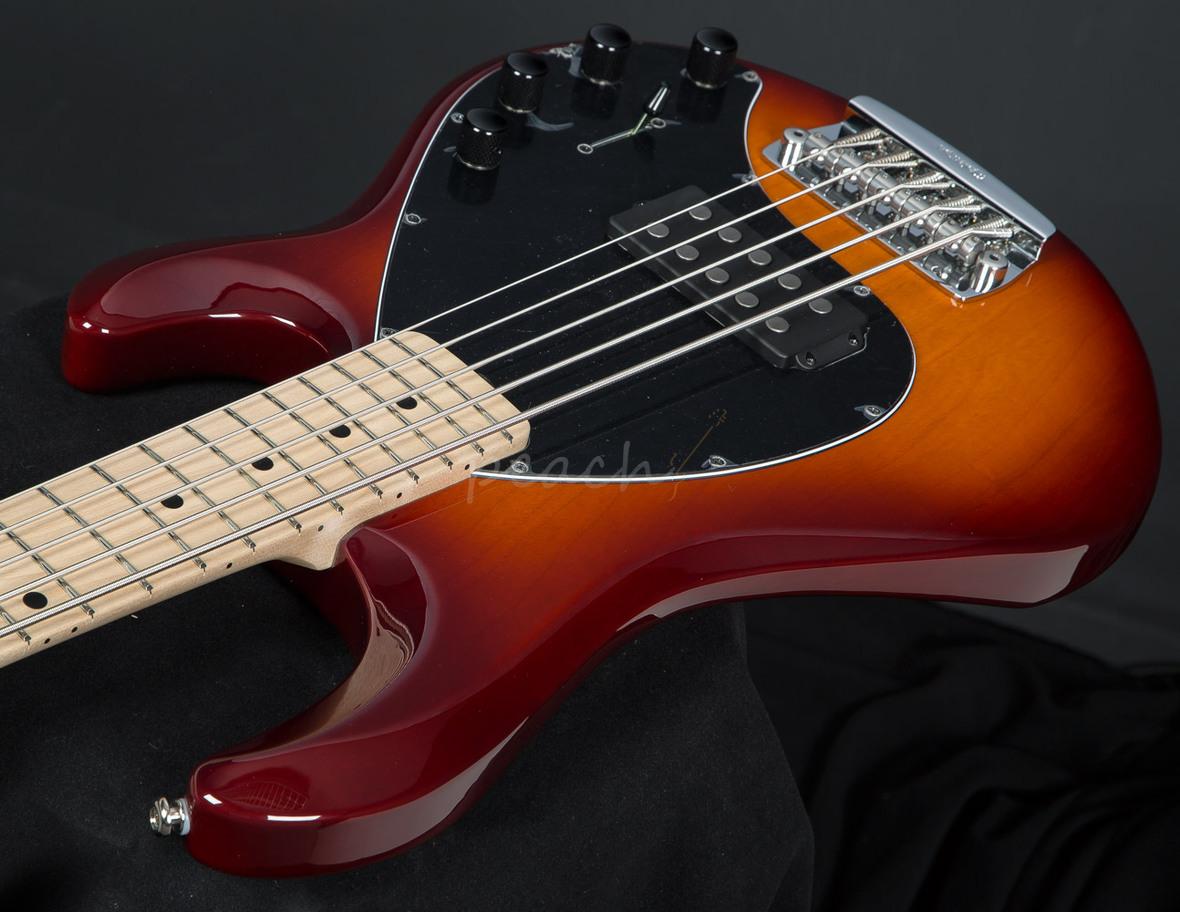 music man stingray 5 string honeyburst peach guitars. Black Bedroom Furniture Sets. Home Design Ideas