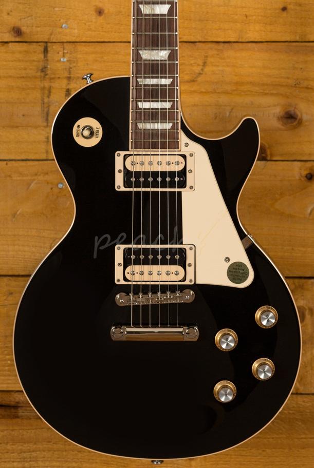 Gibson Les Paul Classic 2019 Ebony Peach Guitars