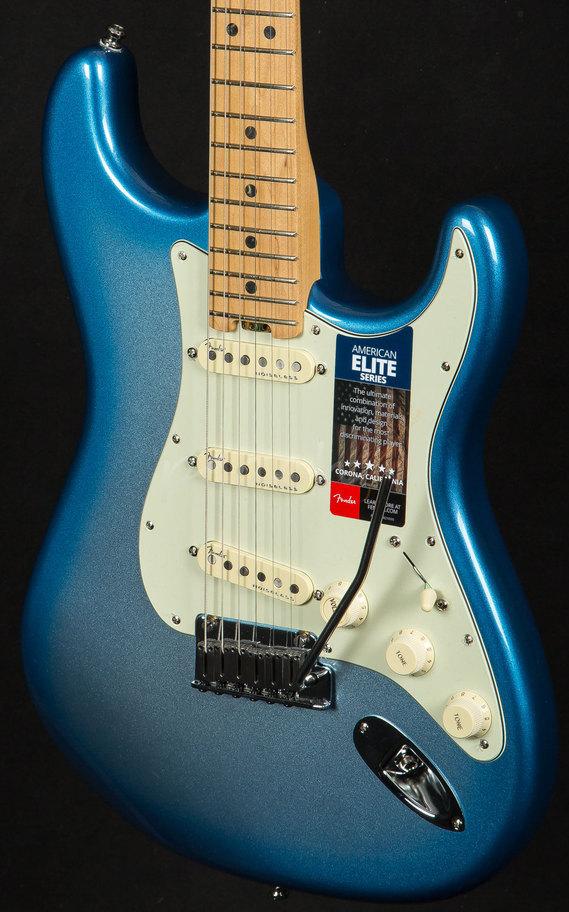 Fender Noiseless Pickups >> Fender American Elite Strat MN | Sky Burst - Peach Guitars