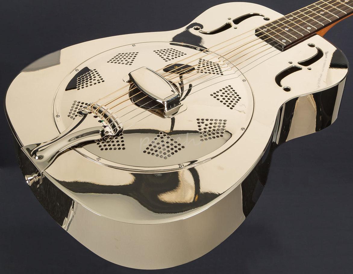 dobro hound dog m 14 metal body peach guitars. Black Bedroom Furniture Sets. Home Design Ideas
