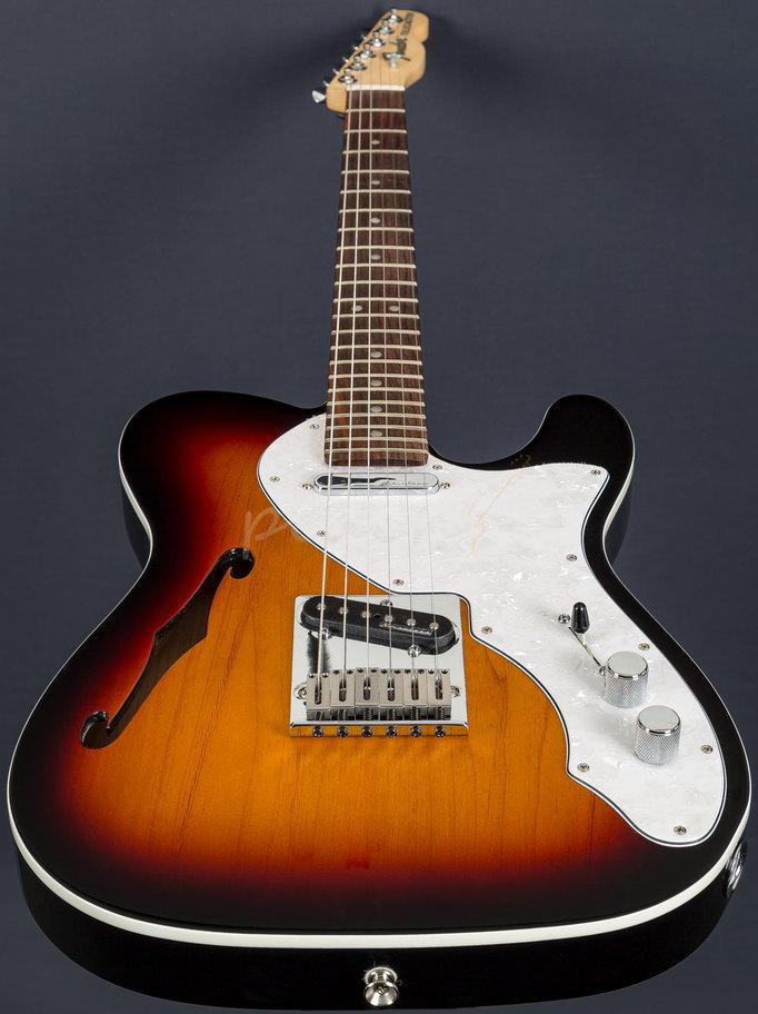 Fender Noiseless Pickups >> Fender Dlxe Tele Thinline 3TSB Rosewood - Peach Guitars