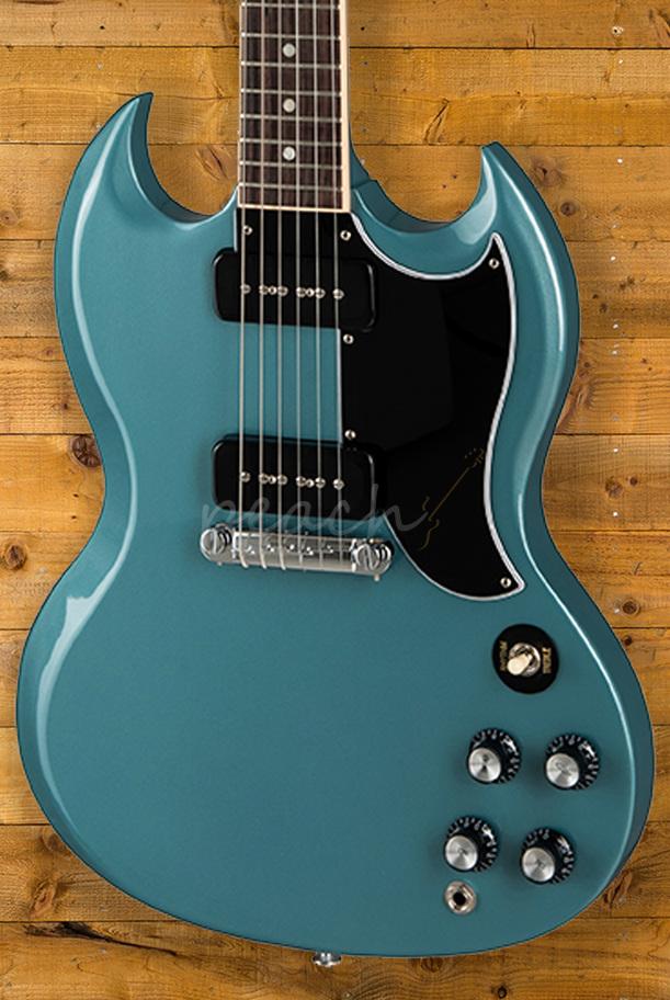 gibson sg special 2019 faded pelham blue limited run peach guitars. Black Bedroom Furniture Sets. Home Design Ideas