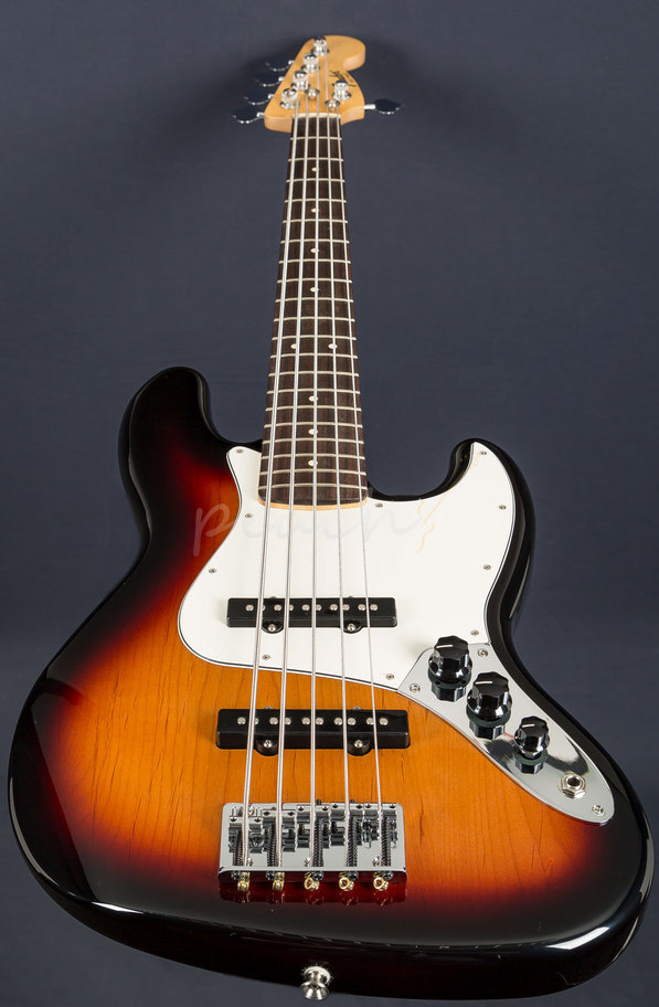 fender 5 str mexican jazz bass brown sb peach guitars. Black Bedroom Furniture Sets. Home Design Ideas