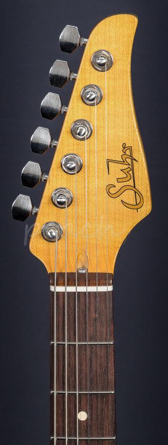 Suhr Classic Antique Fiesta Red Rw Hss Peach Guitars