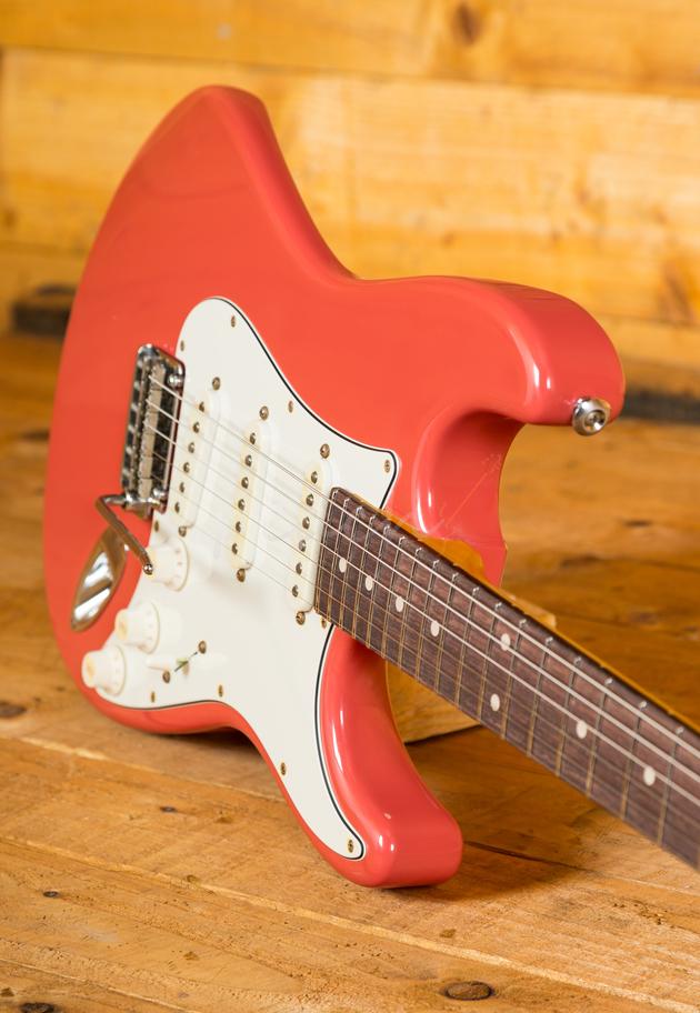 Suhr Classic Antique Fiesta Red Rosewood Sss Peach Guitars