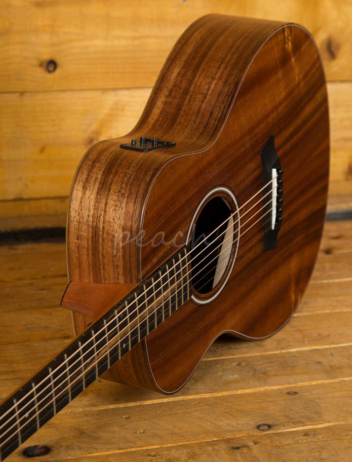 taylor gs mini e koa electro acoustic guitar left handed peach guitars. Black Bedroom Furniture Sets. Home Design Ideas