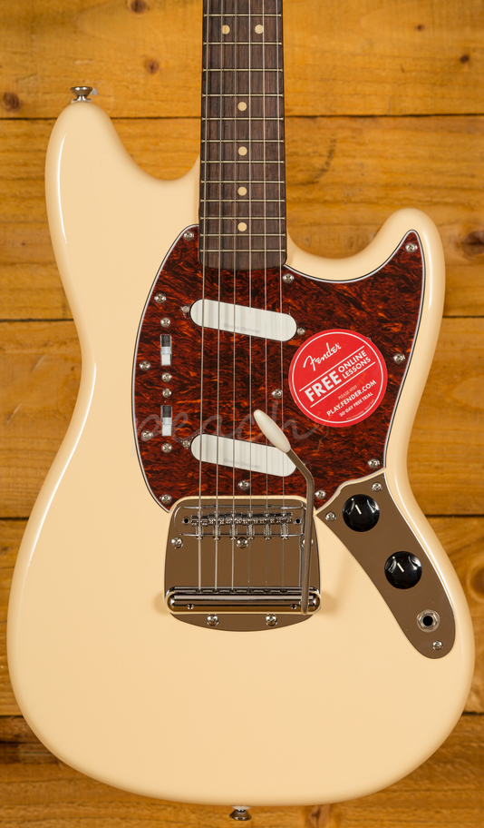 squier vintage modified mustang vintage white peach guitars. Black Bedroom Furniture Sets. Home Design Ideas