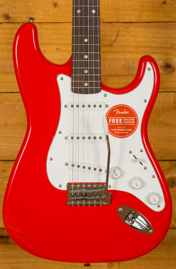 squier affinity strat maple race red peach guitars. Black Bedroom Furniture Sets. Home Design Ideas