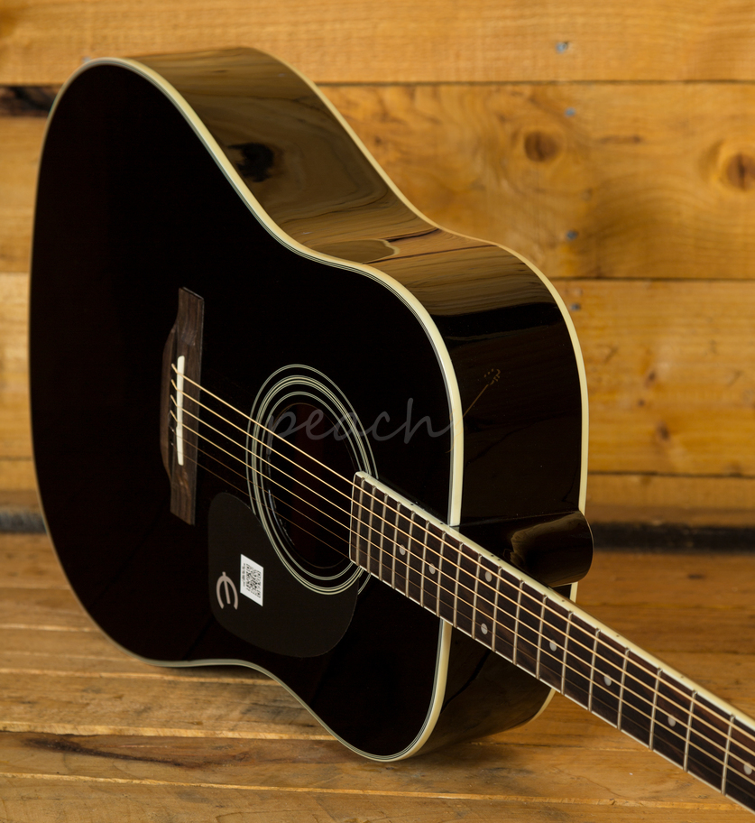 epiphone pro 1 plus ebony acoustic guitar peach guitars. Black Bedroom Furniture Sets. Home Design Ideas