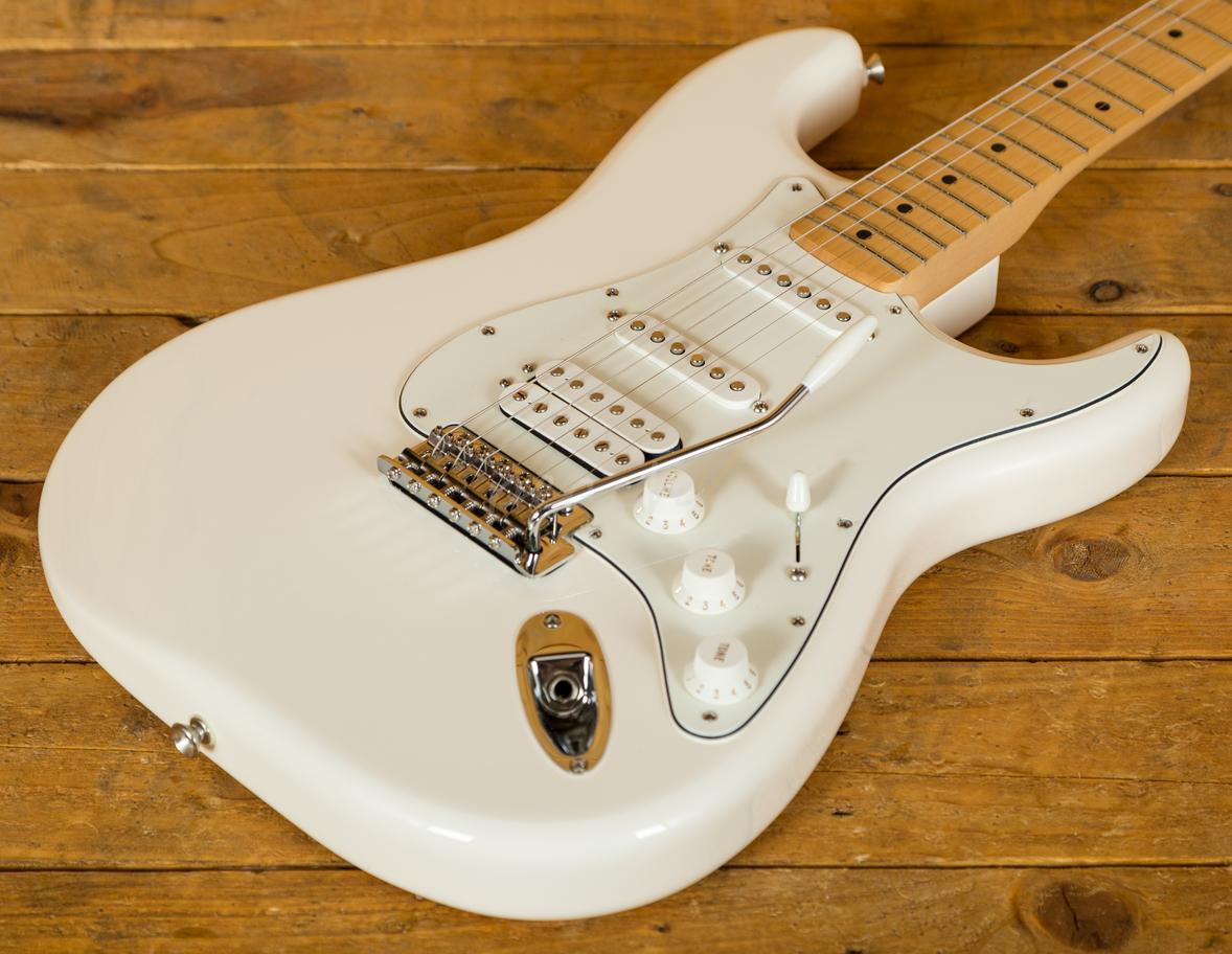 Taylor Guitars For Sale >> Fender Mexican Standard HSS Strat Arctic White Maple Neck - Peach Guitars