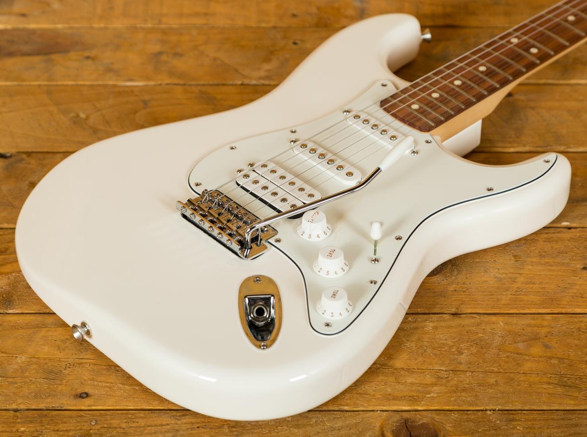 Fender Stratocaster Hss Mexican : fender mexican standard hss strat arctic white pau ferro peach guitars ~ Hamham.info Haus und Dekorationen