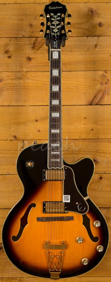 epiphone joe pass emperor ii pro vintage sunburst peach guitars. Black Bedroom Furniture Sets. Home Design Ideas