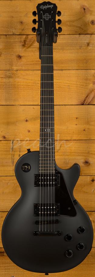 epiphone gothic les paul studio pitch black peach guitars. Black Bedroom Furniture Sets. Home Design Ideas