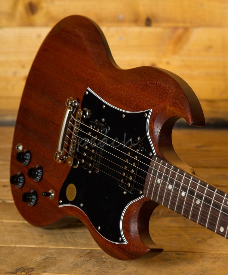 gibson usa 2018 sg faded in worn bourbon peach guitars. Black Bedroom Furniture Sets. Home Design Ideas