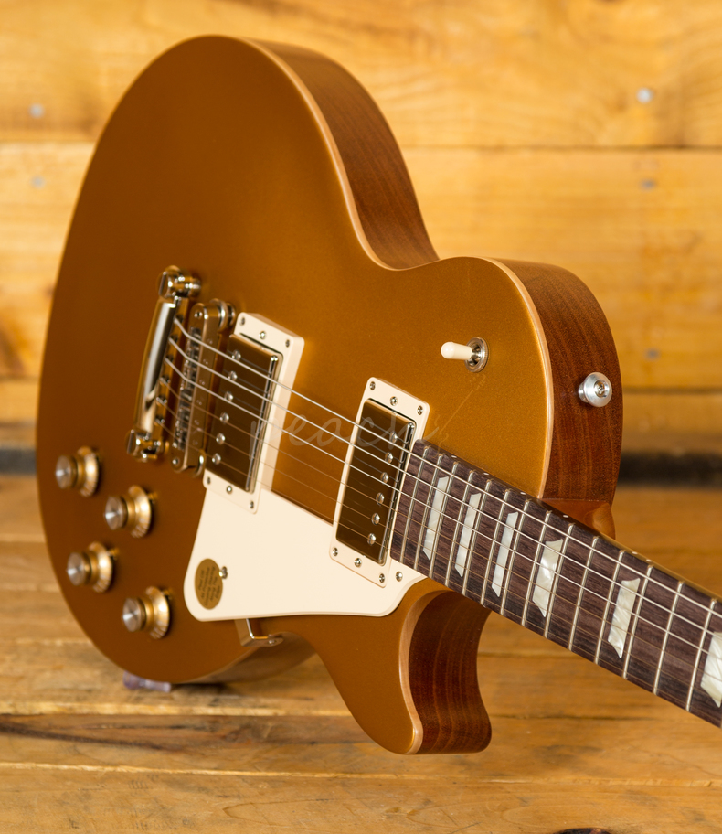 gibson usa 2018 les paul tribute in satin gold peach guitars. Black Bedroom Furniture Sets. Home Design Ideas