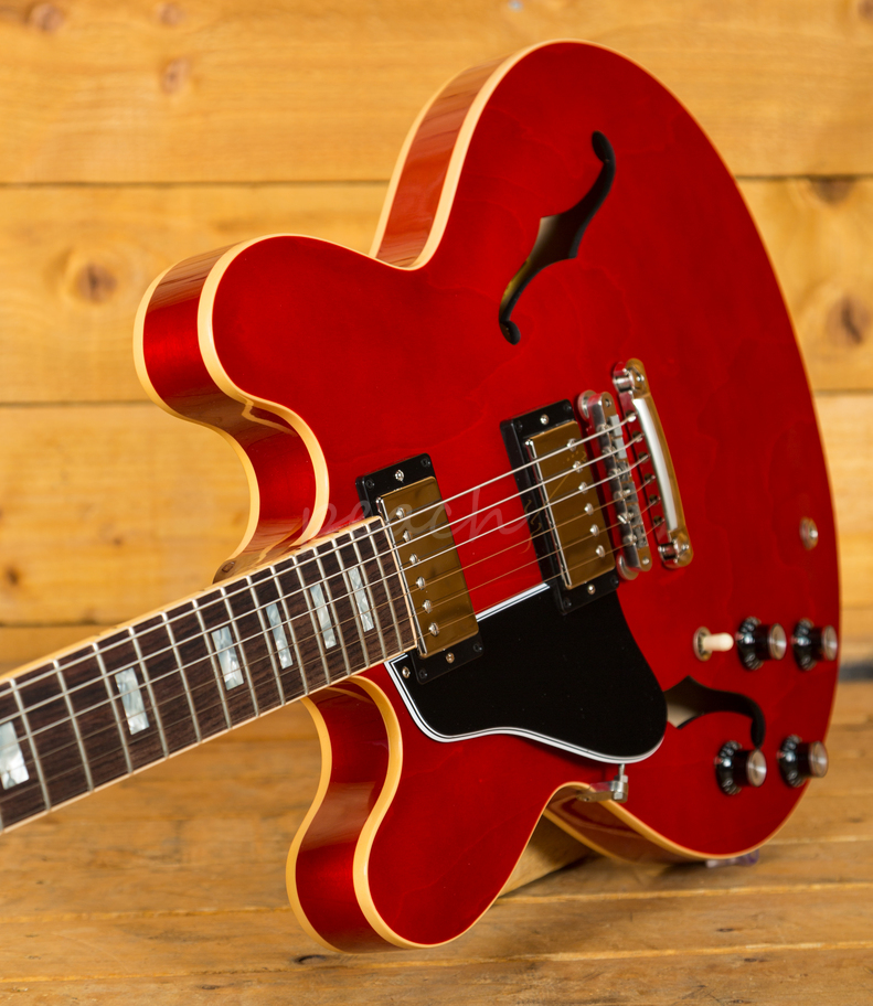 gibson es 335 2018 traditional antique faded cherry left handed peach guitars. Black Bedroom Furniture Sets. Home Design Ideas