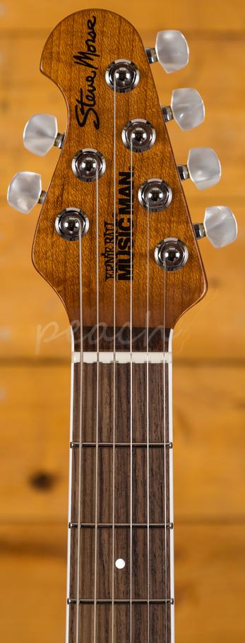 music man steve morse bfr caramel bst roasted rosewood reverse peach guitars. Black Bedroom Furniture Sets. Home Design Ideas
