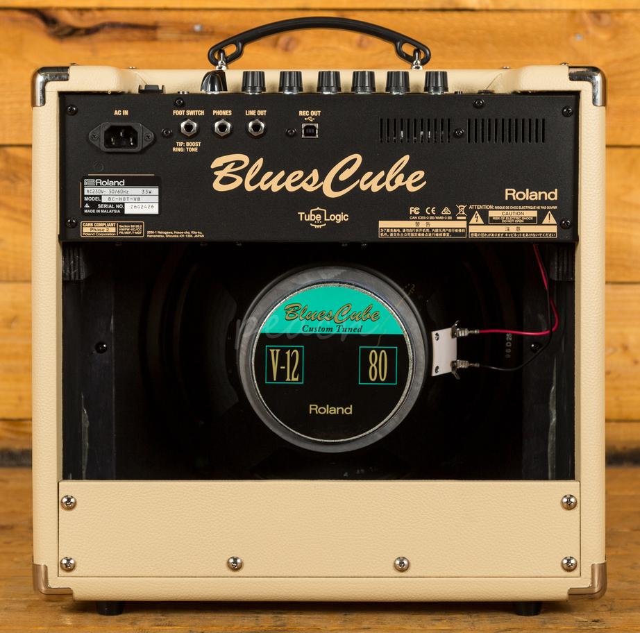 roland blues cube hot amp vintage blonde peach guitars. Black Bedroom Furniture Sets. Home Design Ideas