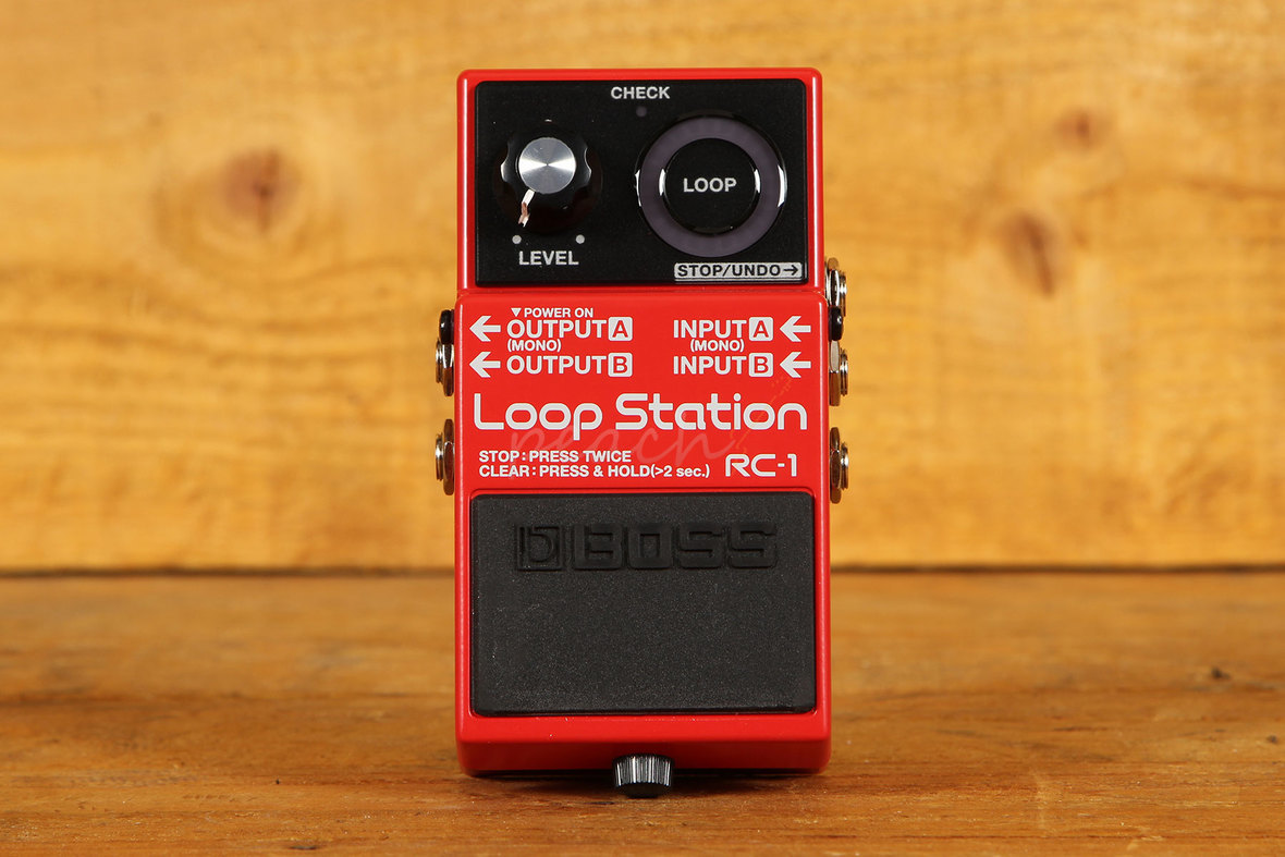 boss rc 1 compact loop station pedal peach guitars. Black Bedroom Furniture Sets. Home Design Ideas