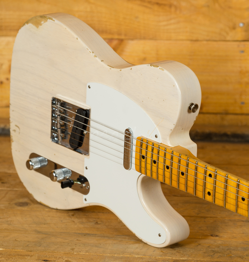 fender custom shop 1954 telecaster relic aged white blonde peach guitars. Black Bedroom Furniture Sets. Home Design Ideas