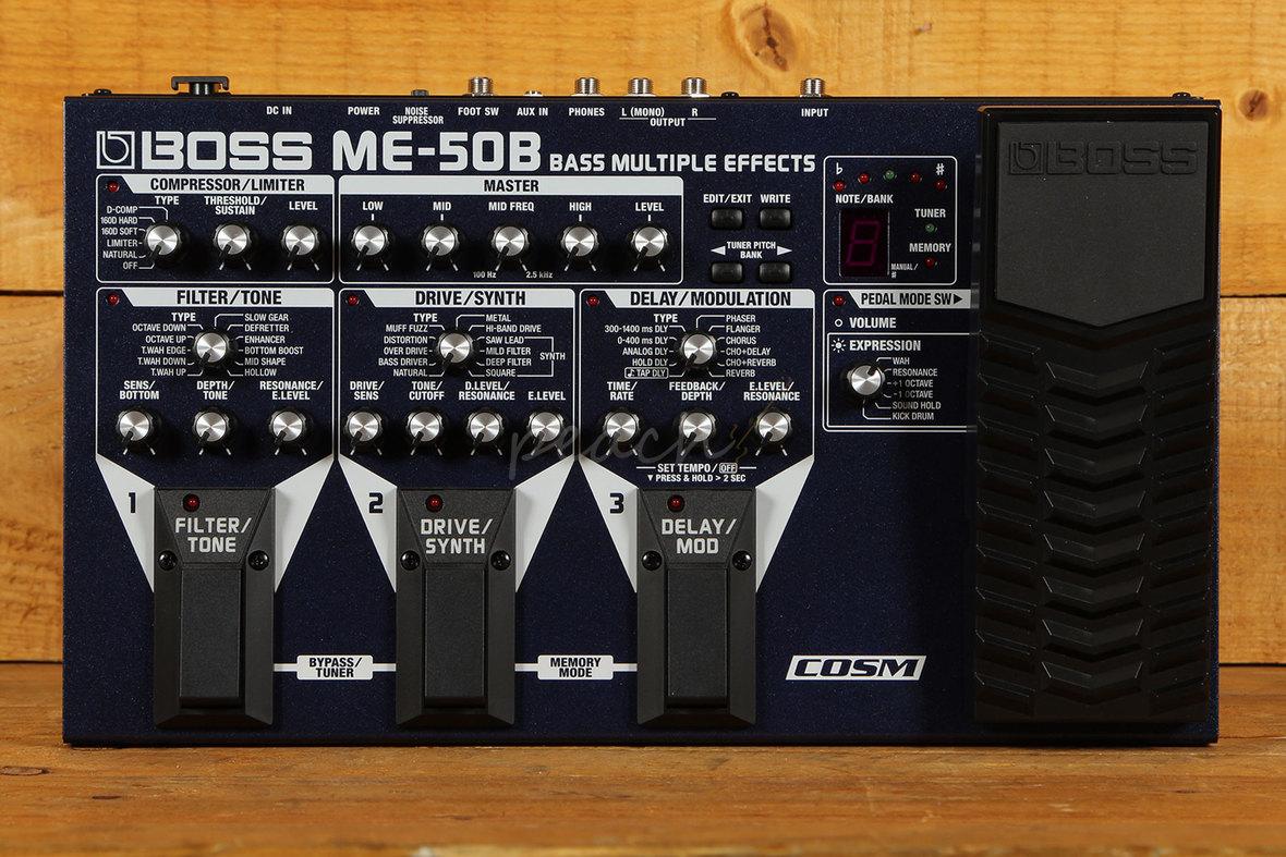 boss me 50b multi effects bass pedal peach guitars. Black Bedroom Furniture Sets. Home Design Ideas