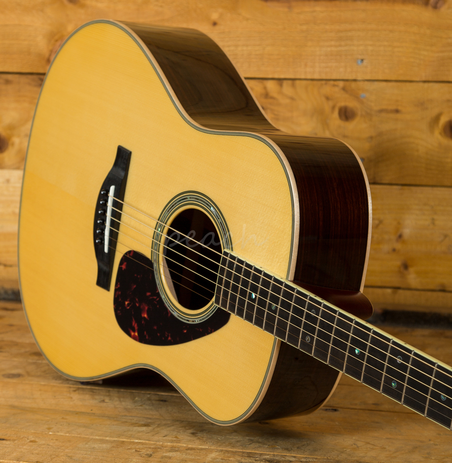yamaha ll16 are acoustic natural with hard gigbag peach guitars. Black Bedroom Furniture Sets. Home Design Ideas