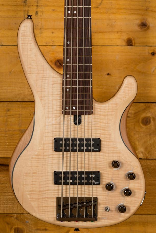 yamaha trbx605fm 5 string bass natural satin peach guitars. Black Bedroom Furniture Sets. Home Design Ideas