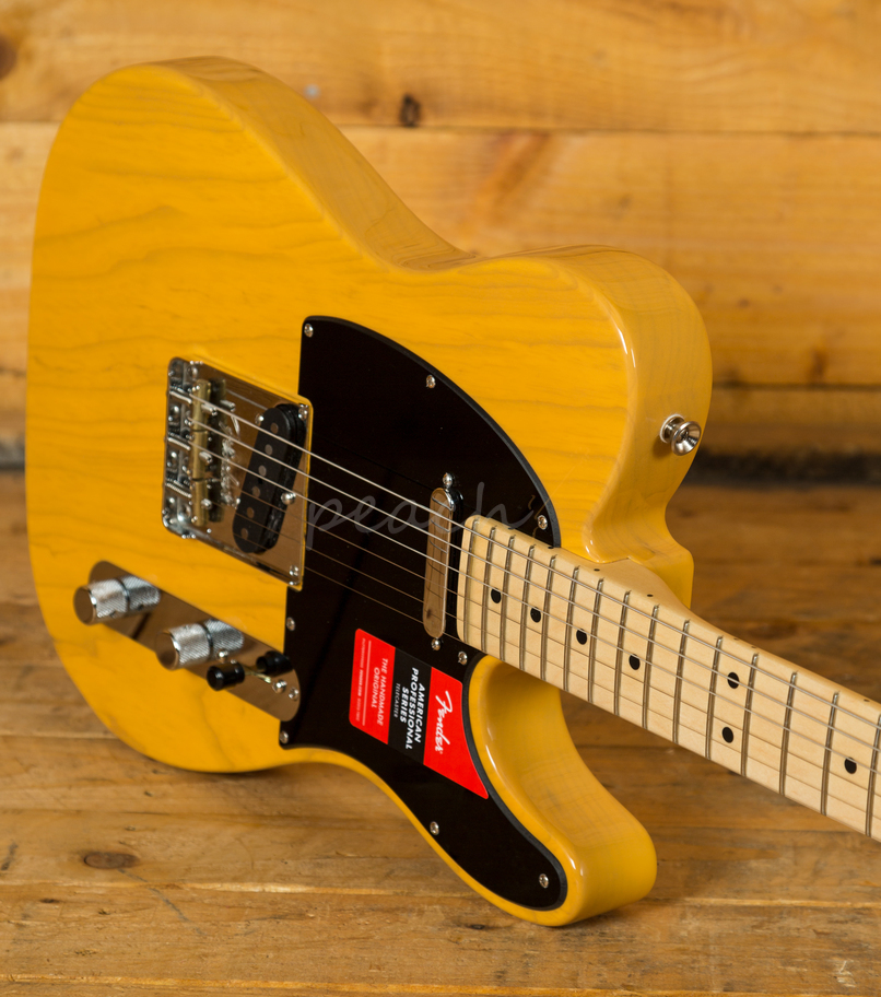 fender american pro tele butterscotch blonde maple neck peach guitars. Black Bedroom Furniture Sets. Home Design Ideas