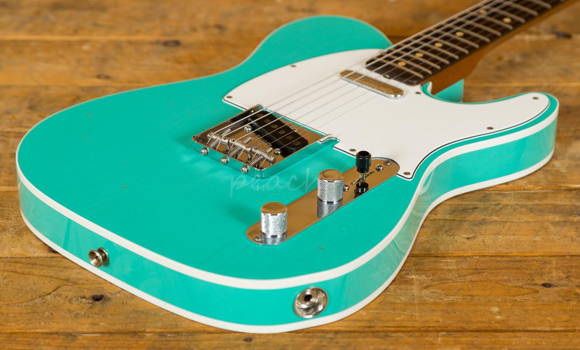 fender custom shop 60 tele custom jrn cc seafoam green peach guitars. Black Bedroom Furniture Sets. Home Design Ideas