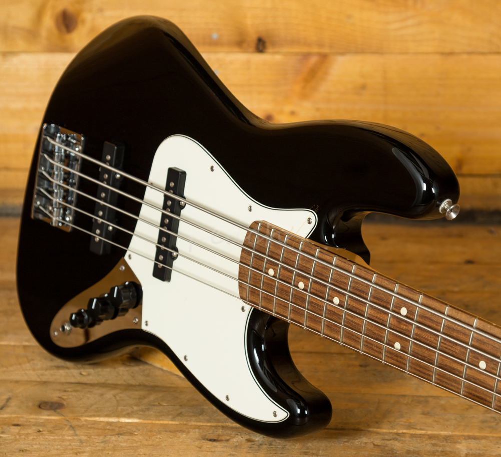 fender standard jazz bass black 5 string peach guitars. Black Bedroom Furniture Sets. Home Design Ideas