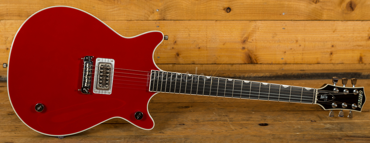 gretsch malcolm young signature firebird red used peach guitars. Black Bedroom Furniture Sets. Home Design Ideas