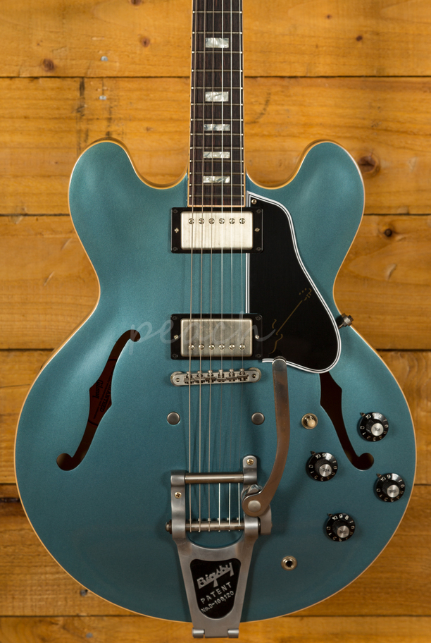 gibson memphis es 335 anchor stud bigsby vos antique pelham blue peach guitars. Black Bedroom Furniture Sets. Home Design Ideas