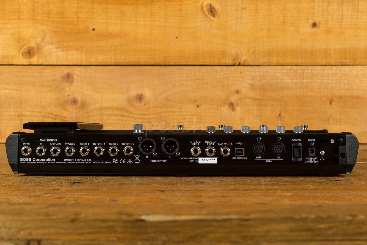 boss gt 1000 guitar effects processor peach guitars. Black Bedroom Furniture Sets. Home Design Ideas