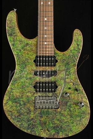 Suhr Modern Hand Picked Burl Maple Trans Algae