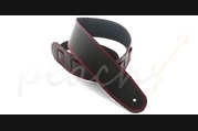 "DSL SGE25-15-6 Leather 2.5"" Black with Red Stitching"