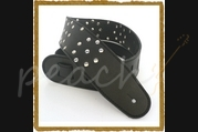 "DSL HMG35-15-1 3.5"" Black Leather Strap with studs"