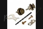 Loxx Nickel Strap Locks Acoustic Antique Brass
