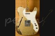 Fender Custom Shop 50's Relic Tele Thinline Aztek Gold over Gold Sparkle