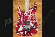 EVH Striped Series - Left Handed -  Red Black White Stripes