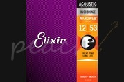 Elixir Acoustic 80/20 Bronze Nanoweb Strings - 12-53 (Light)
